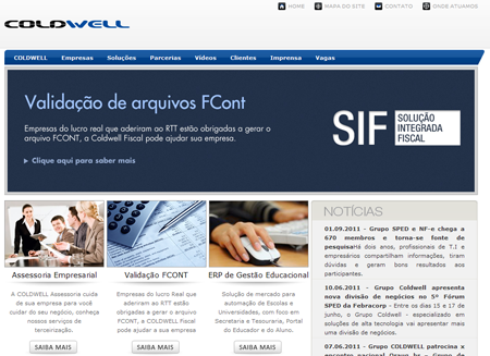 Site do Grupo Coldwell